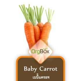 Organic Baby Carrots (เบบี้แครอท) 300 g.