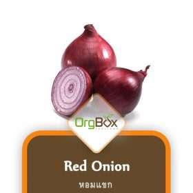 Organic Red Onion (หอมแขก) 300 g.
